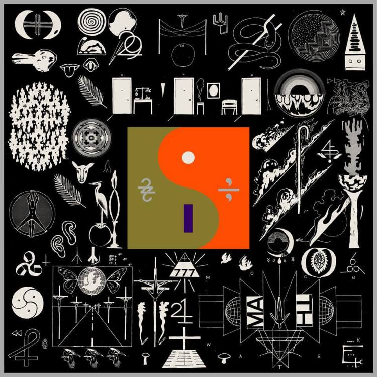 Bon Iver's '22, A Million' album cover