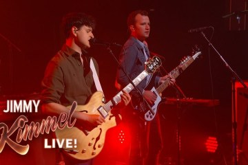 Vampire Weekend live at Jimmy Kimmel
