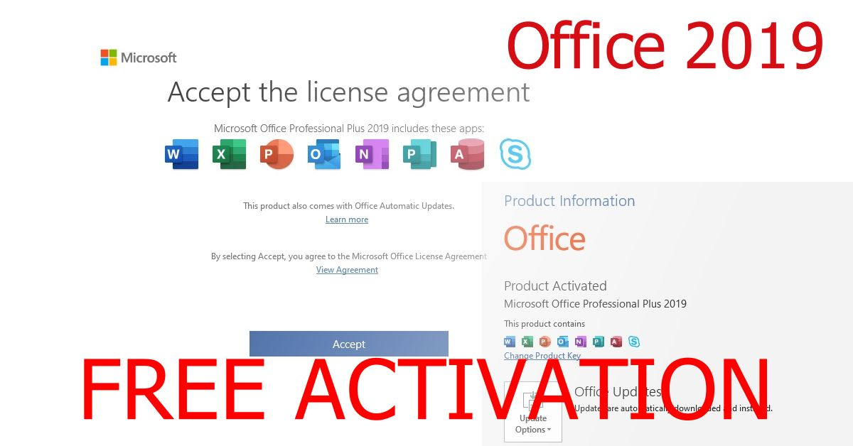 Office 2019 free download activation