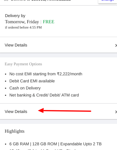 Flipkart Payment options