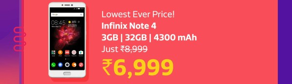 Infinix Note 4 Offer