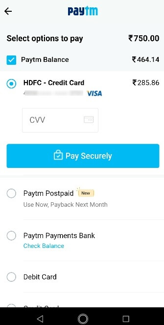 PayTM First Step3