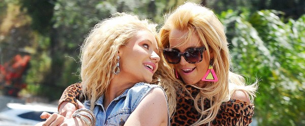 Britney Spears and Iggy Azalea film a Music Video