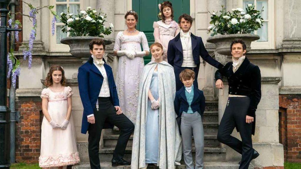 família Bridgerton em foto da primeira temporada texto 2 temporada de bridgerton