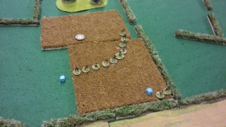 Paul's initial move, Sniper and squad on table