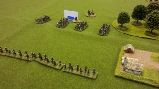 Skirmishers are thrown out