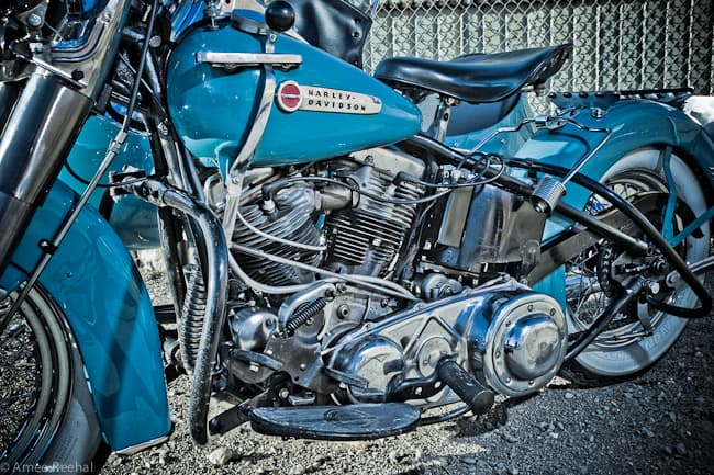 Harley-Davidson-Panhead-bike-engine