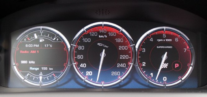 2011 Jaguar XJL Supercharged Review gauges