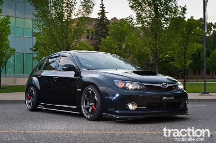 2008 Subaru STI Hatchback front profile