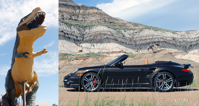 Alberta Badlands in a Porsche 911 Turbo