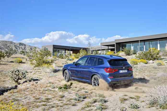 2018 BMW X3 rear dirt