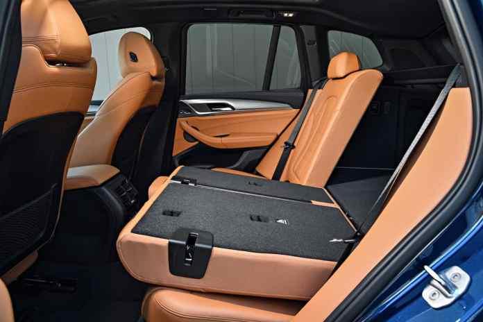2018 BMW X3 rear seats