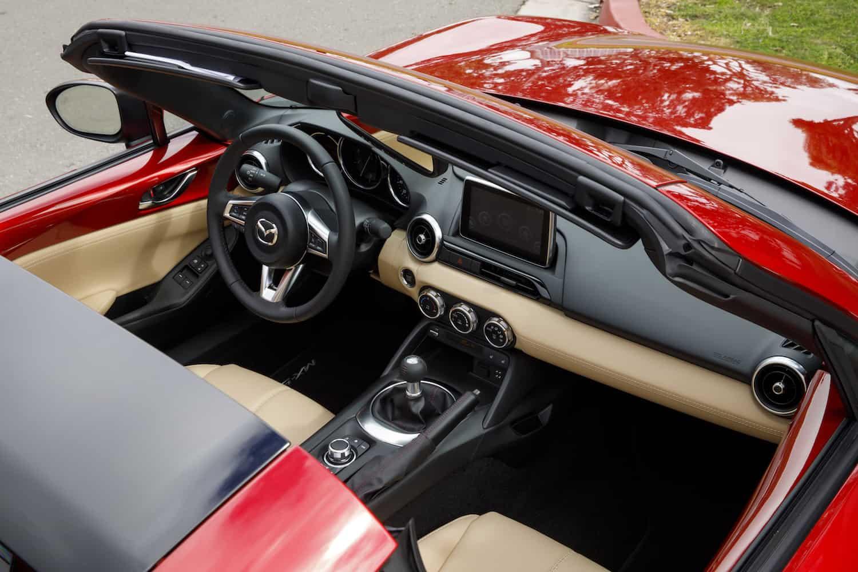 2017 Mazda MX-5 RF review cockpit