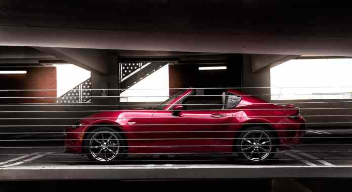 2017 Mazda MX-5 RF review sideview static red