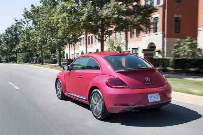2017 VW Beetle Pink Edition Review rear rolling