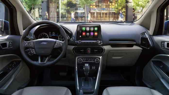 2018 Ford EcoSport Review interior front