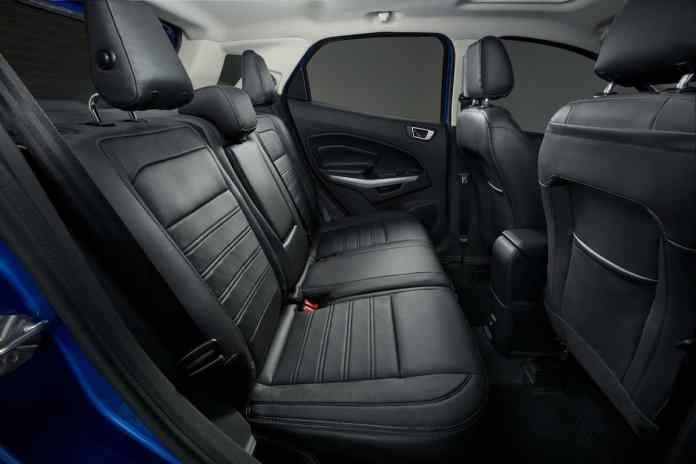 2018 Ford EcoSport Review rear seats