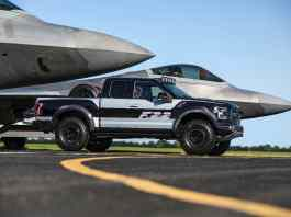 f-22 f-150 raptor sideview