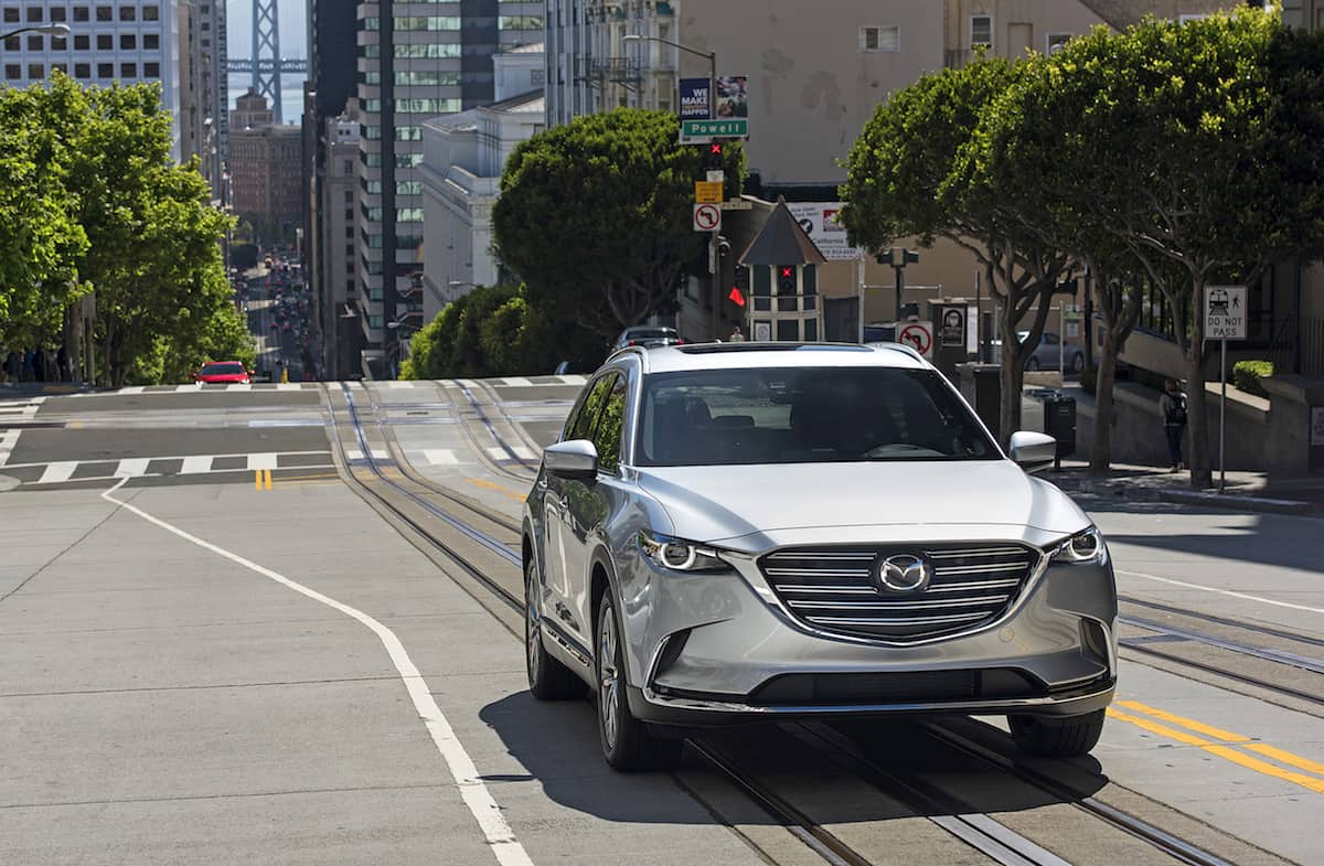 2017 Mazda CX-9 review front view