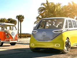 2022 volkswagan I.D. BUZZ electric concept microbus