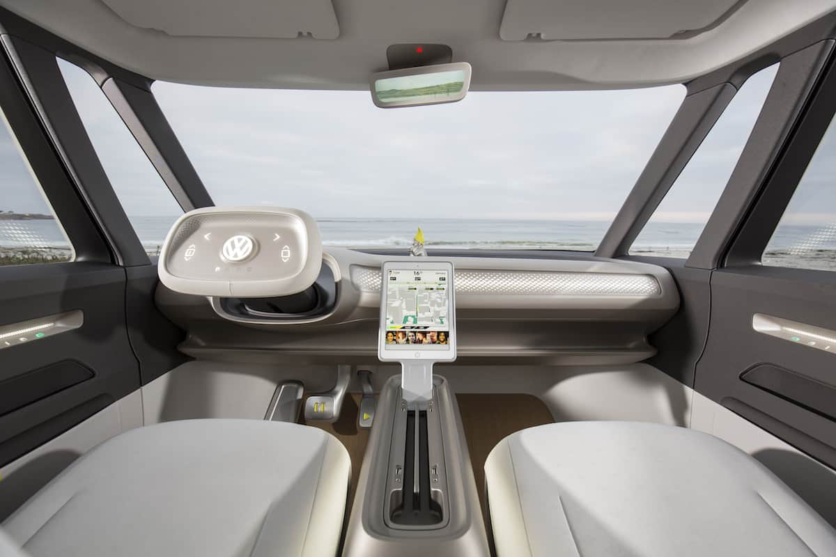 volkswagen I.D. BUZZ electric concept cockpit