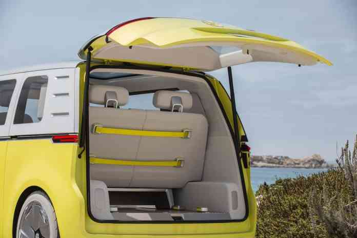volkswagen I.D. BUZZ electric concept rear door open
