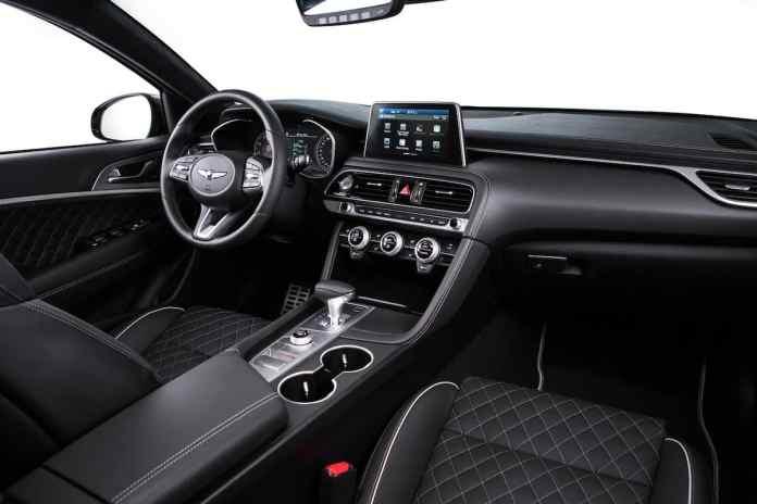 2018 genesis g70 sedan interior