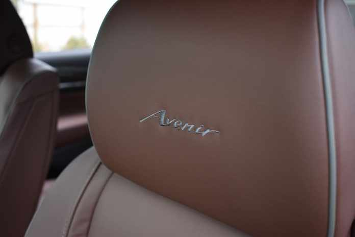 2018 Buick Enclave First Drive Review avenir headrest logo