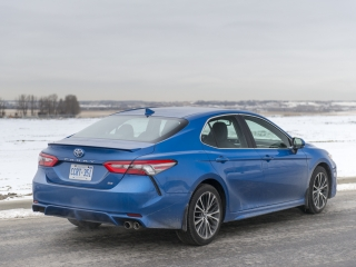 2018 Toyota Camry SE Review rear
