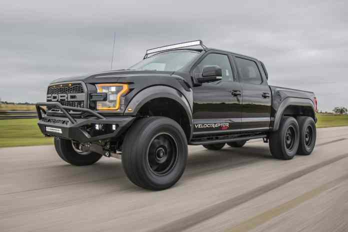 Hennessey VelociRaptor 6X6 front rolling