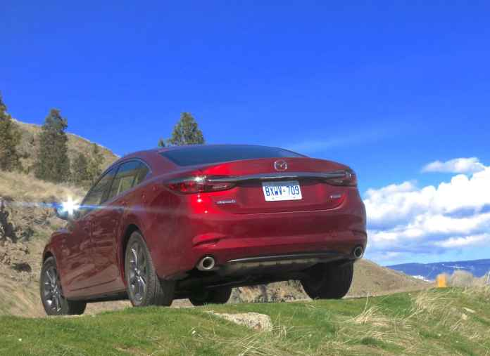 2018 mazda6 review rear view red