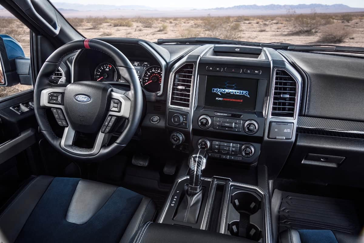 2019 Ford F-150 Raptor interior