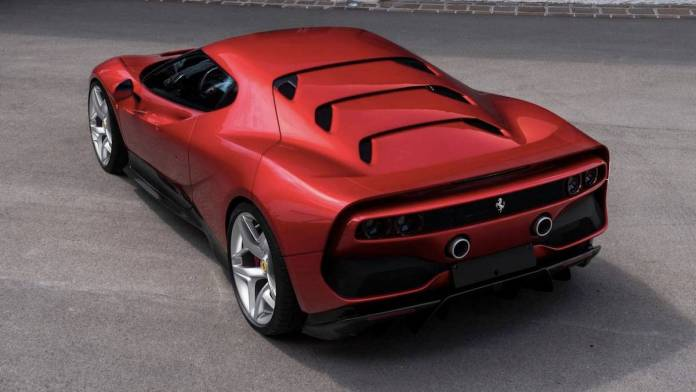 Ferrari SP38 rear red 2