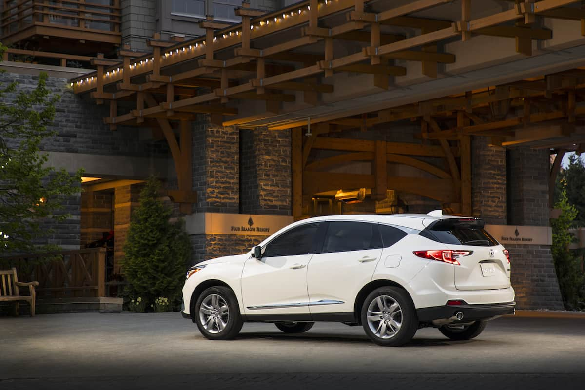 2019 acura rdx rear white
