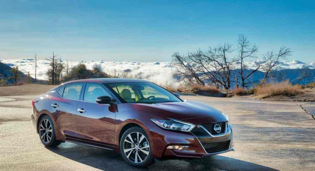2018 Nissan Maxima review front view red