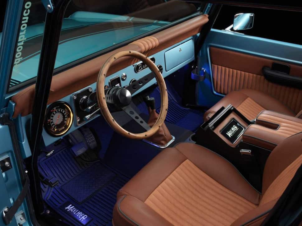670-hp 4-Door Bronco Restored to Perfection front cabin