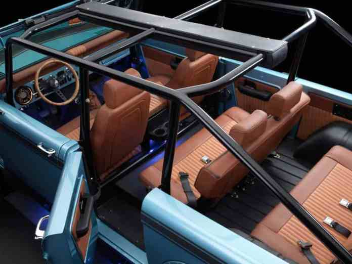 670-hp 4-Door Bronco Restored to Perfection rear cabin 2