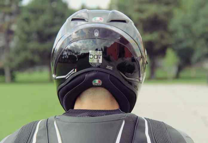 AGV Corsa R Helmet Review rearview