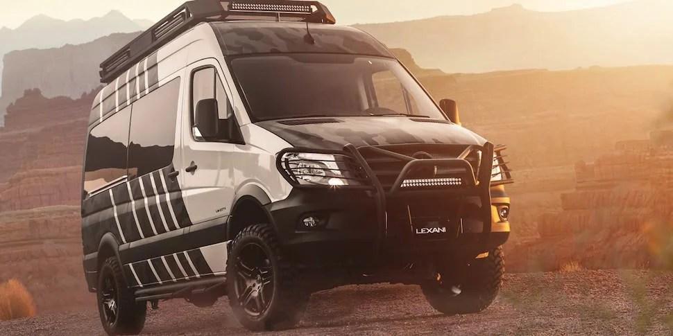 Lexani EXTV Kalahari 4×4 Sprinter Camper front