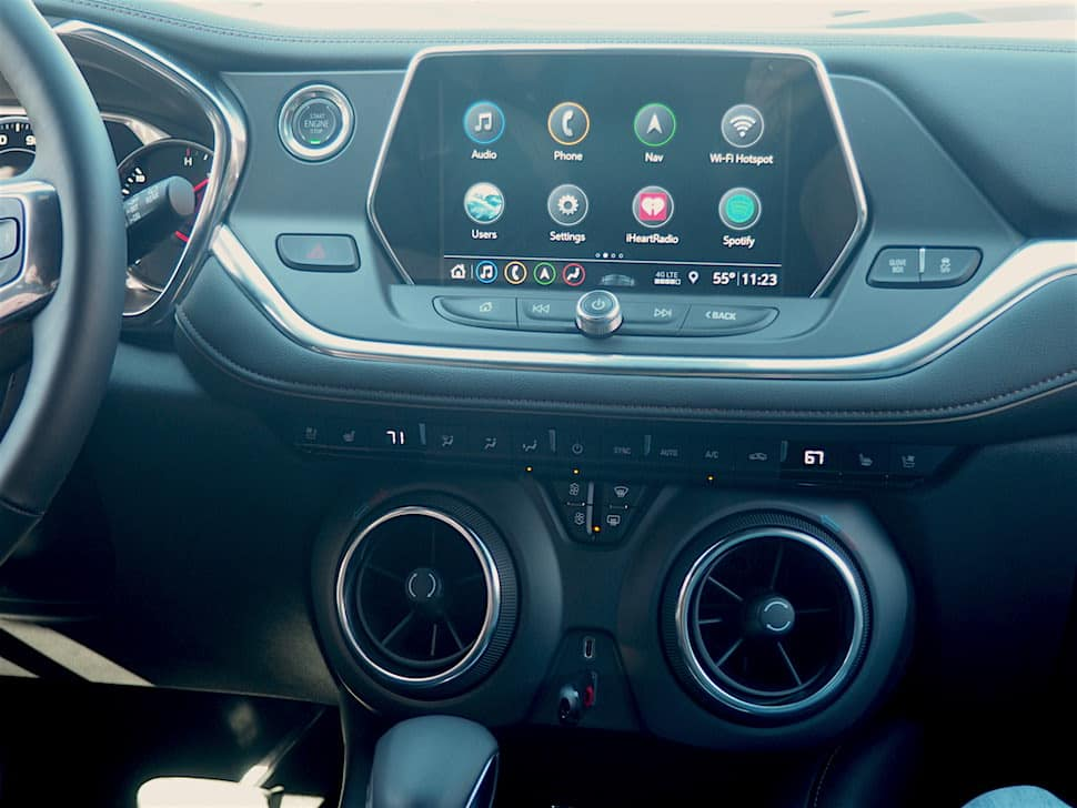 2019 Chevrolet Blazer RS interior tech