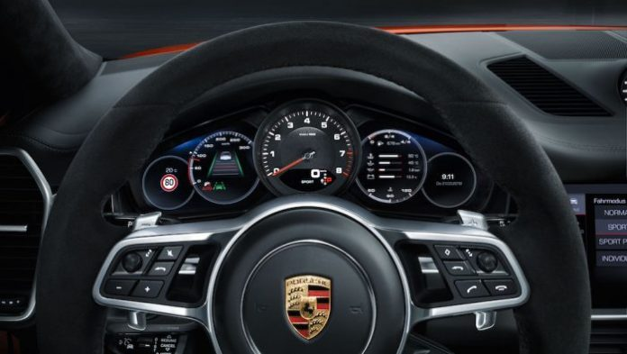 2020 porsche cayenne coupe interior and new tech