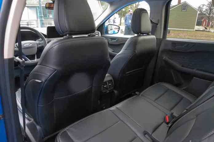 2020 ford escape interior rear sliding bench seat