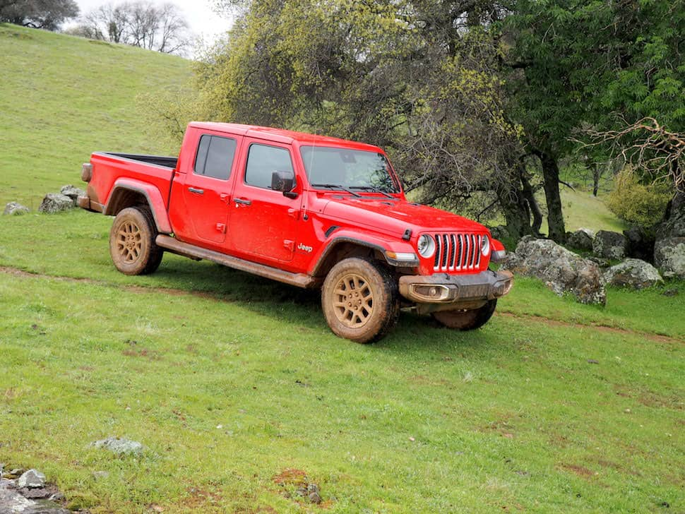 2020 jeep gladiator new truck outside in forest