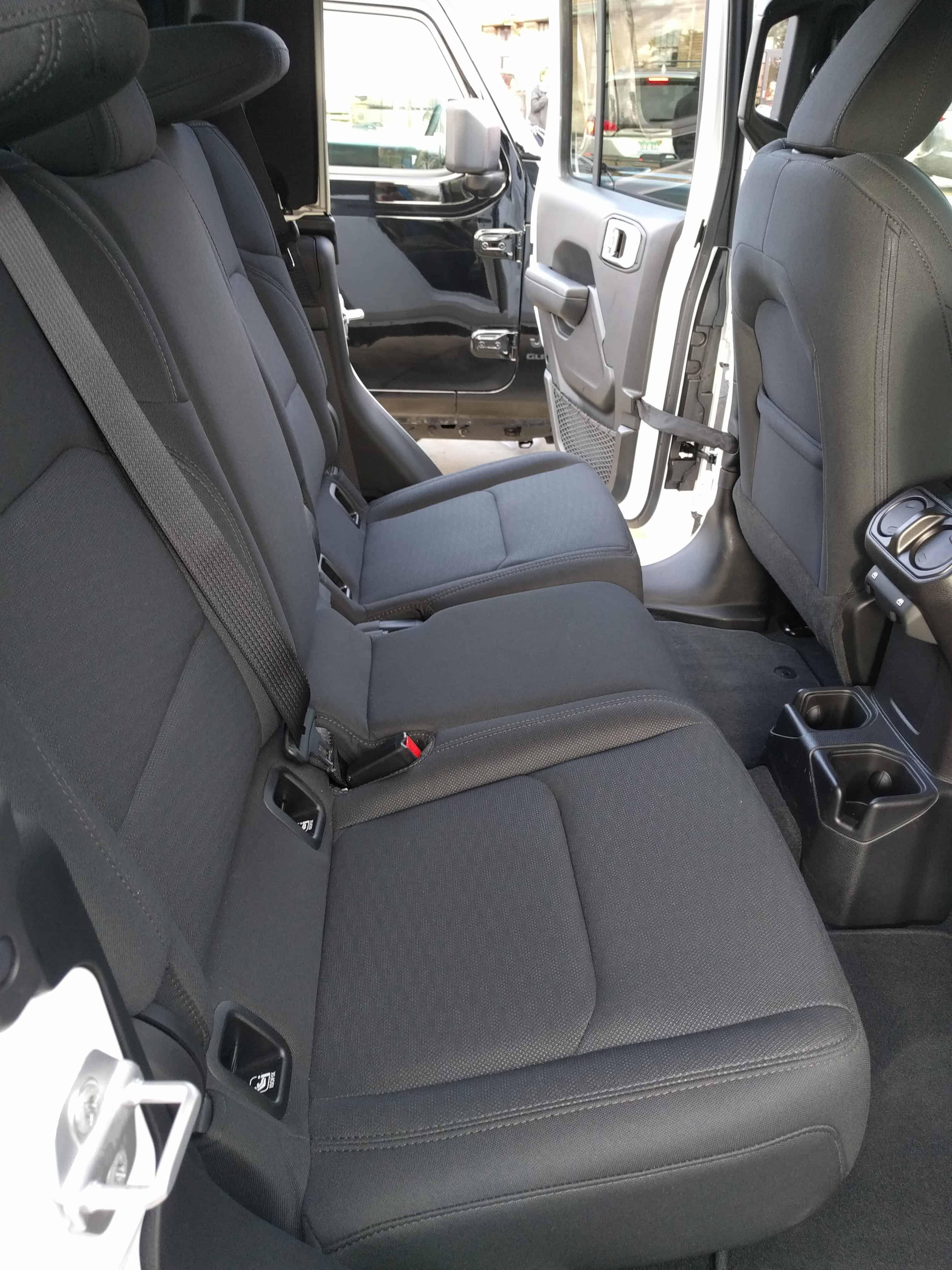2020 jeep gladiator new truck rear seats