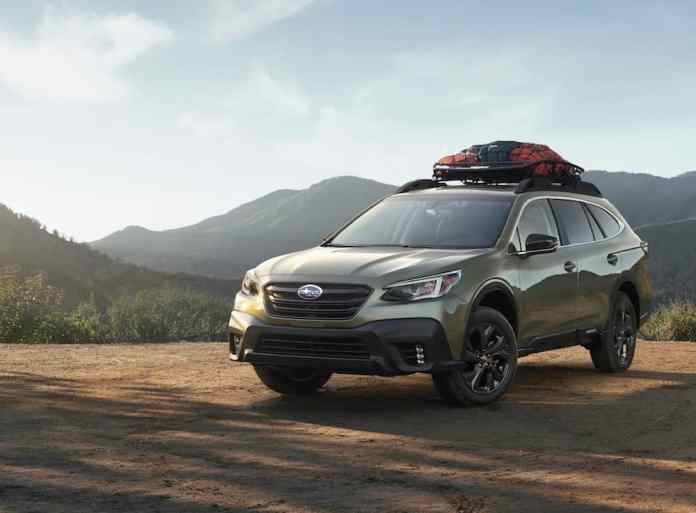 2020 subaru outback front view onyx edition