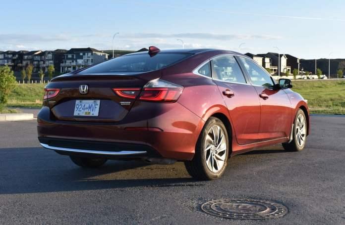 2019 honda insight touring review rear view