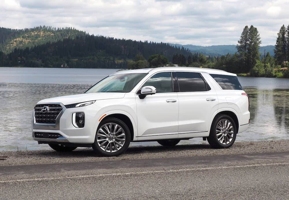 2020 hyundai palisade review side profile in white