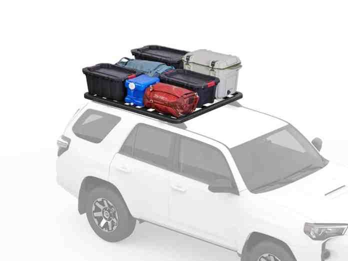 Yakima LockNLoad roof rack camping gear