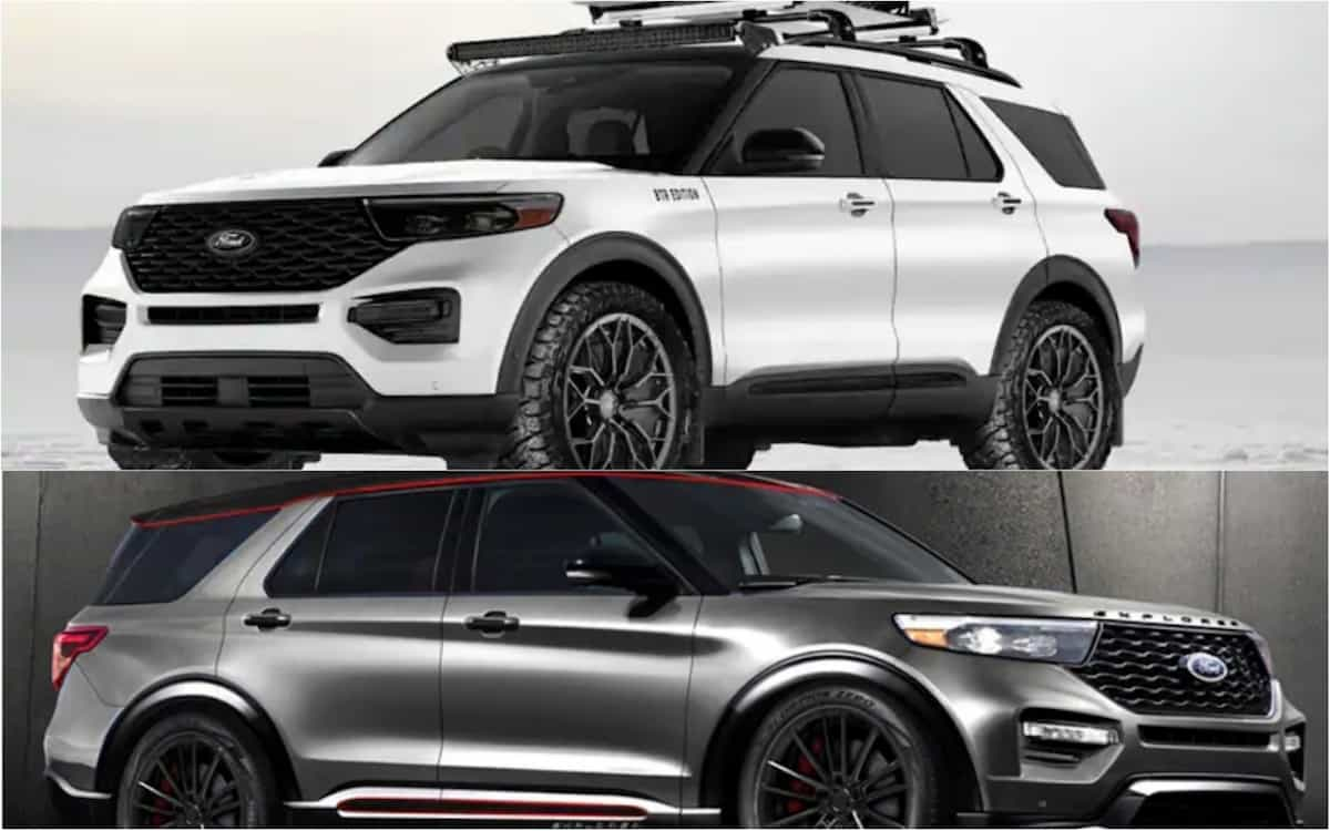 pair of badass 2020 ford explorers with