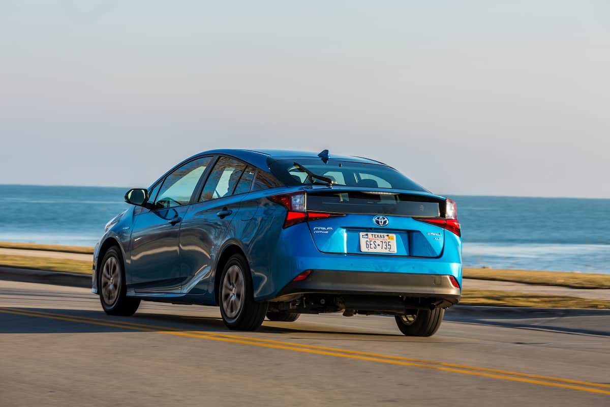 2020 Toyota Prius xle awd hatchback rear driving